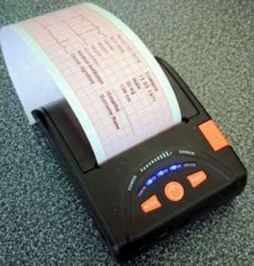 Портативный термопринтер для печати ЭКГ